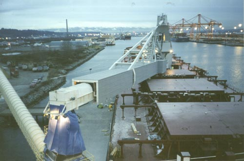Sheila Ann's first discharge - gypsum at Tacoma, Washington